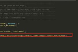 tp5接口版本控制该如何写